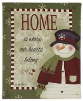 Home is Where Our Hearts Belong, LED, Snowman Sign