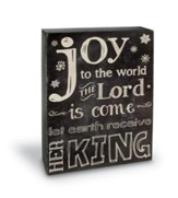 Joy to the World, Chalkboard Sign