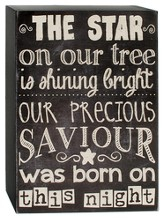 The Star, Our Precious Savior Chalkboard Sign