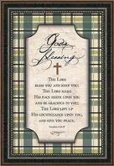 God's Blessing Framed Art