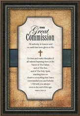 The Great Commission Framed Art