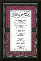 Names Of God Framed Art