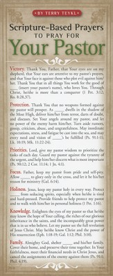Scripture-Based Prayers To Pray for Your Pastor Prayer Card, Pack of 50