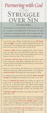 Partnering With God In the Struggle Over Sin Prayer Card, Pack of 50