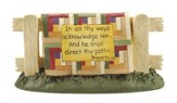 In All Thy Ways Acknowledge Him Quilt Stand Figurine