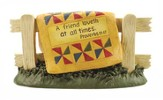 A Friend Loves at All Times Quilt Stand Figurine
