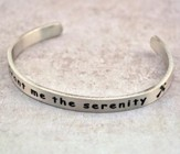 Pewter Cuff Bracelet, Grant Me The Serenity