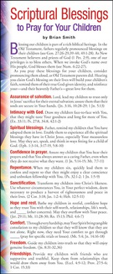 Scriptural Blessings To Pray for Your Children Prayer Card, Pack of 50