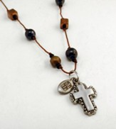 Copper and Hematite 18 Cord with Pewter Cross