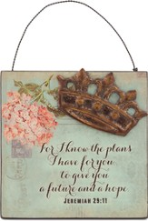 For I Know the Plans, Mini Plaque