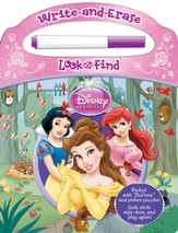 Disney Princess: Write And Erase Look And Find Book With Pen