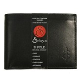 Bifold Wallet with Top Flap, Black