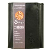 Trifold Wallet with Flap, Black