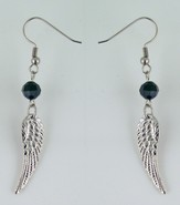 Small Antique Silver Angel Wings