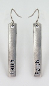 Faith Pewter Plate Earrings