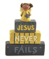 Jesus Never Fails Figurine