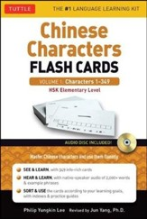 Learning Chinese Characters Flash Cards Kit Volume 1