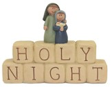 Holy Night Block, with Holy Family Figurine