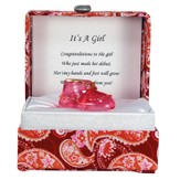 Pink Shoe in a Paisley Box, It's a Girl