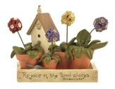 Rejoice in the Lord Flowerbox Figurine