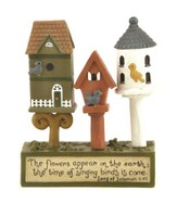 The Flowers Appear, Birdhouse Figurine