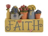 Faith Flowerpots Figurine