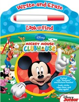 Mickey Mouse Clubhouse: Write And Erase Look And Find Book With Pen