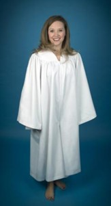 Culotte Baptismal Robe for Women, Large