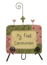 My First Communion Easel Plaque Figurine