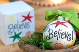 Believe Ornament to Personalize, Gift Boxed
