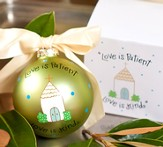Love is Patient Wedding Ornament to Personalize, Gift Boxed