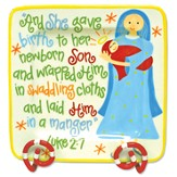 And She Gave Birth, Luke 2:7, Plate