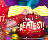You're the Greatest, Ornament to Personalize, Gift Boxed