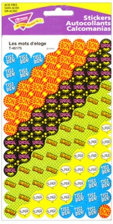 Les mots d'eloge (French Praisers) SuperSpots Stickers