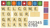 Scrabble Welcome to Our Classroom Mini Bulletin Board