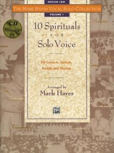 Volume 1: 10 Spirtuals for Solo Voice Songbook & Medium Low Audio CD