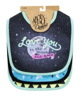 Love You to the Moon and Back Bib Set
