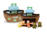Plush Noah's Ark 6 Piece Play Set