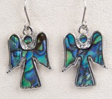 Angel Earrings, Abalone