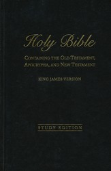 KJV with Apocrypha - Study Edition: 400th Anniversary, Hardcover-black