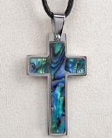 Cross Pendant, Abalone
