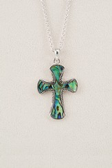 Beaded Cross, Wild Pearle Necklace