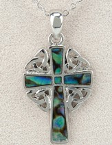 Celtic Cross Pendant, Abalone