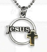 Jesus Cross Circle Pendant