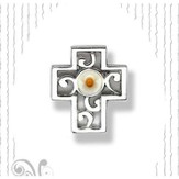 Mustard Seed Cross Lapel Pin
