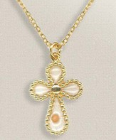 Mustard Seed Cross Necklace, Gold