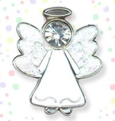 Guardian Angel Lapel Pin, White
