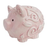 Baptized in Christ Piggy Bank, Pink