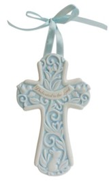 Dedicated to the Lord Wall Cross, Blue