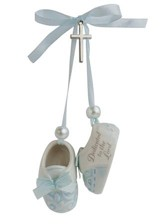 Dedicated to the Lord Hanging Booties, Blue